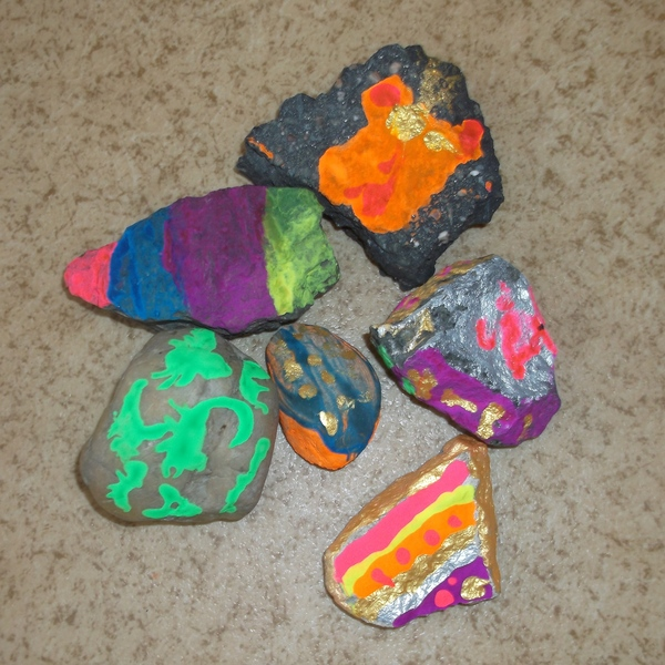 Painted rocks by Seniors