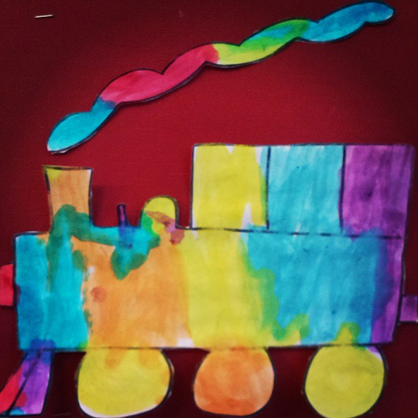 Rainbow Train by Hanna