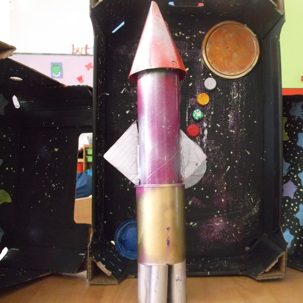 Space Rocket by Ashmit and Jahnvi